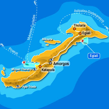 Map of Amorgos